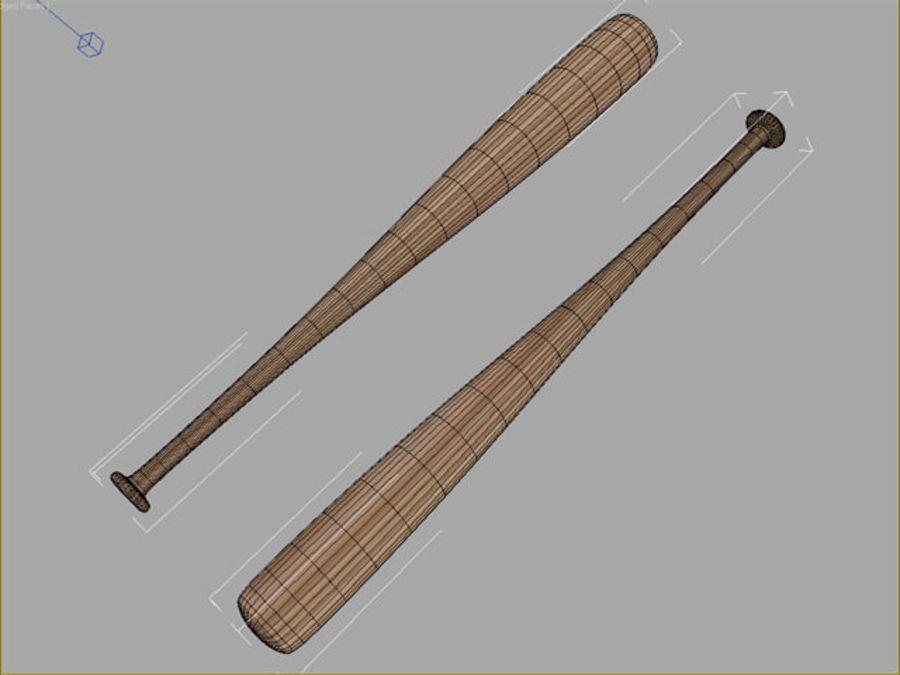Baseball bat royalty-free 3d model - Preview no. 4