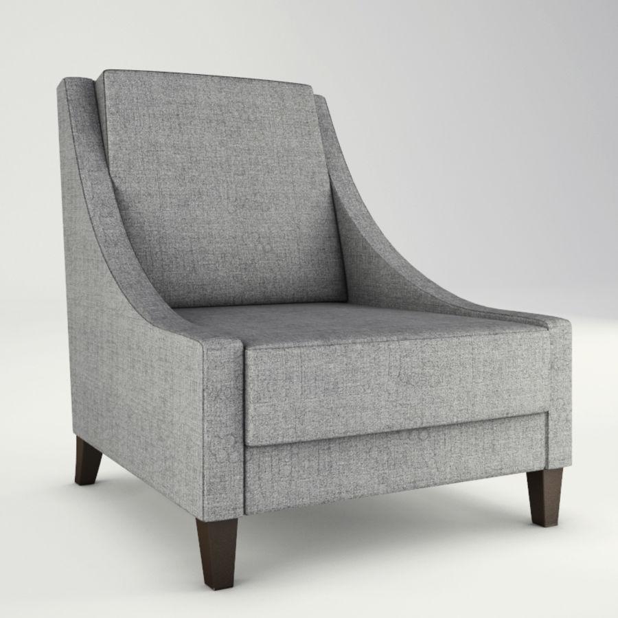 Lounge zachte stoelen en meubels royalty-free 3d model - Preview no. 4