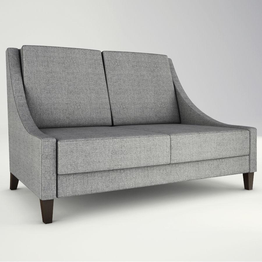 Lounge zachte stoelen en meubels royalty-free 3d model - Preview no. 5