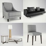 Lounge Yumuşak Oturma ve Mobilya 3d model