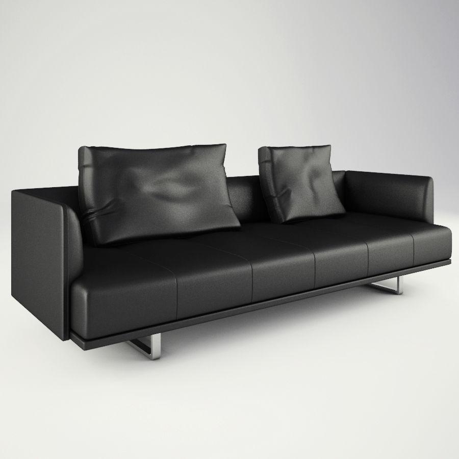 Lounge zachte stoelen en meubels royalty-free 3d model - Preview no. 6