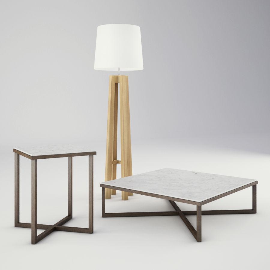 Lounge zachte stoelen en meubels royalty-free 3d model - Preview no. 9