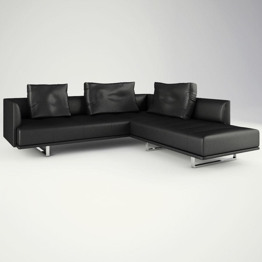 Lounge zachte stoelen en meubels royalty-free 3d model - Preview no. 7