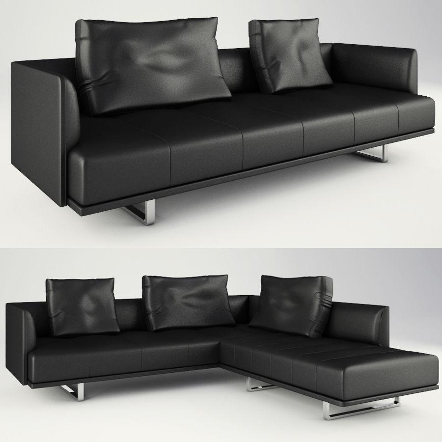 Lounge zachte stoelen en meubels royalty-free 3d model - Preview no. 3