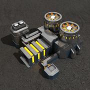 Bâtiment de science-fiction de la centrale 3d model