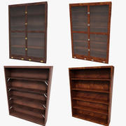 Luxurious Bookcase Cabinet Set Collection Case sideboard drawer 3d model