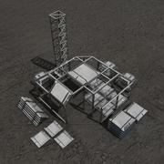 Construction sci-fi building 3d model