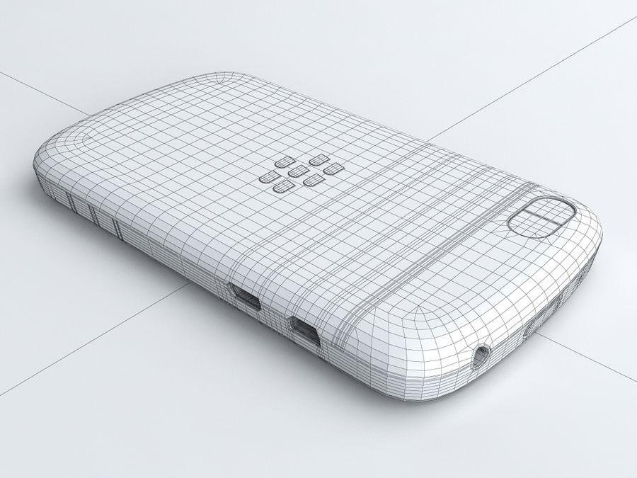 BlackBerry Q10 royalty-free 3d model - Preview no. 22