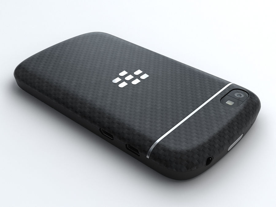 BlackBerry Q10 royalty-free 3d model - Preview no. 3