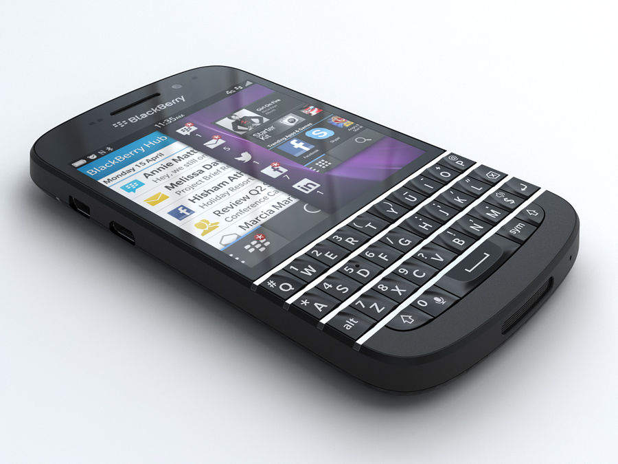 BlackBerry Q10 royalty-free 3d model - Preview no. 1