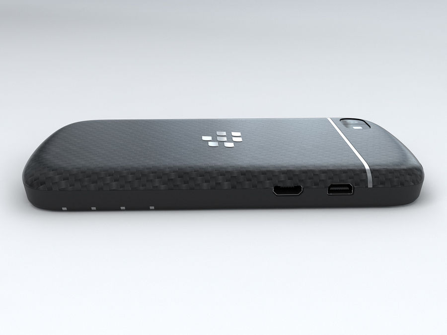 BlackBerry Q10 royalty-free 3d model - Preview no. 10