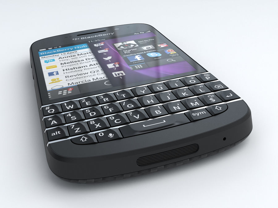 BlackBerry Q10 royalty-free 3d model - Preview no. 5