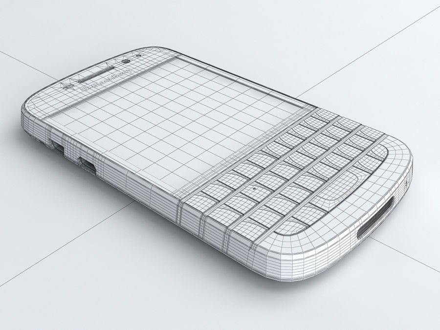 BlackBerry Q10 royalty-free 3d model - Preview no. 21