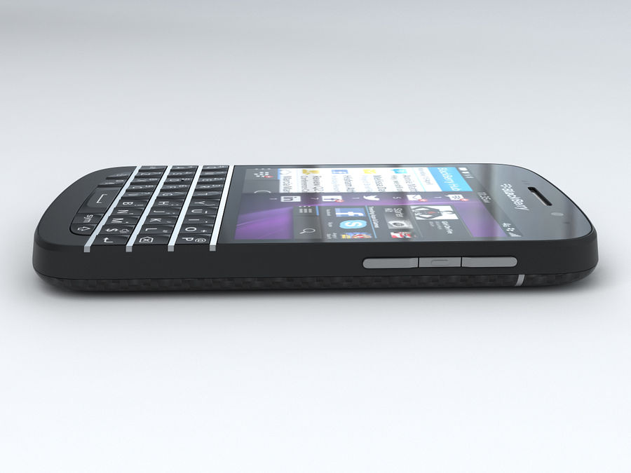 BlackBerry Q10 royalty-free 3d model - Preview no. 9