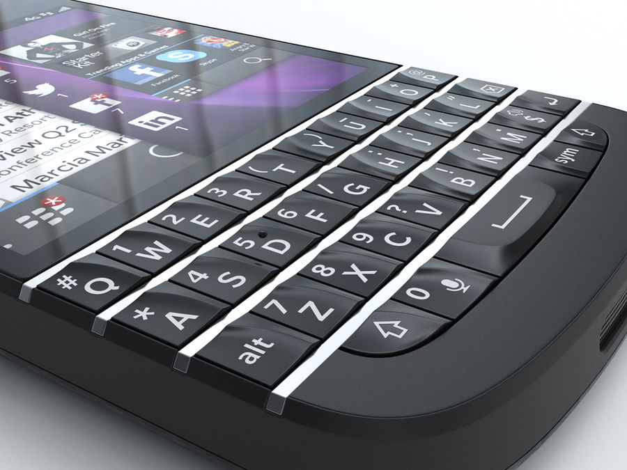 BlackBerry Q10 royalty-free 3d model - Preview no. 13