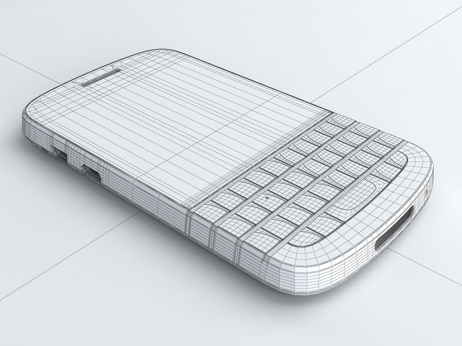 BlackBerry Q10 royalty-free 3d model - Preview no. 20