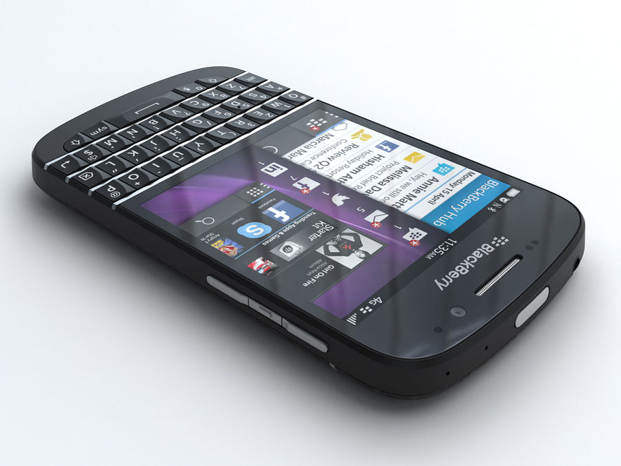 BlackBerry Q10 royalty-free 3d model - Preview no. 2