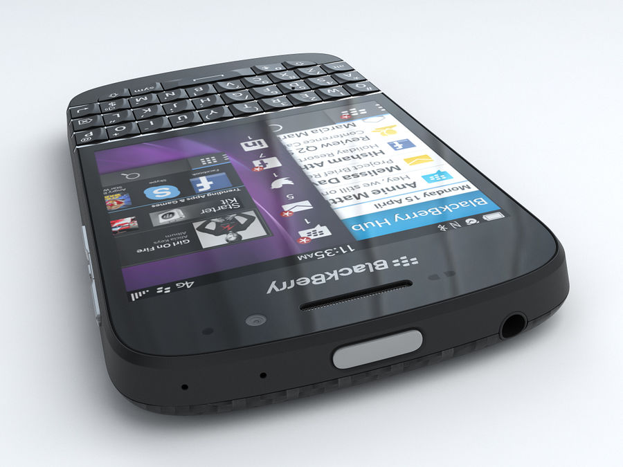 BlackBerry Q10 royalty-free 3d model - Preview no. 6