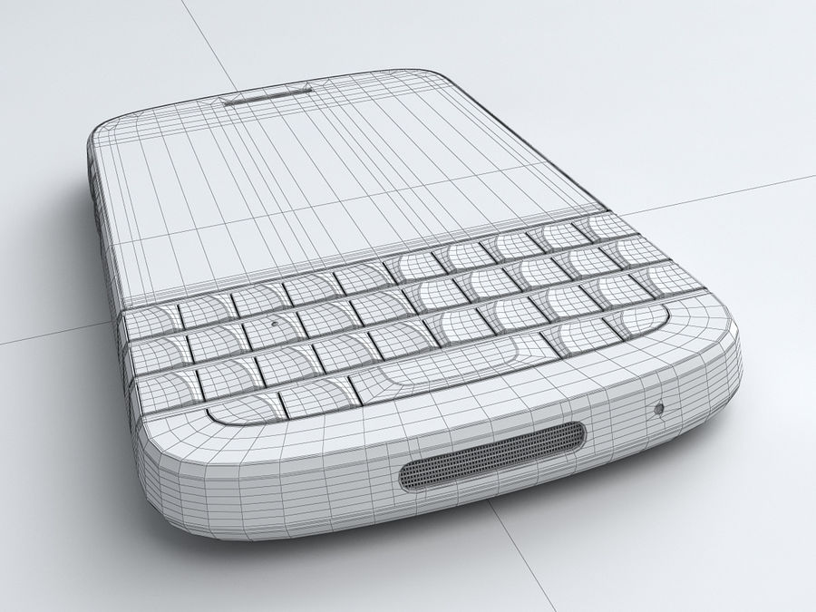 BlackBerry Q10 royalty-free 3d model - Preview no. 23
