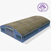 Wooden Barn D 3d model