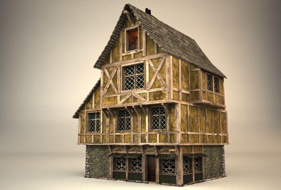 Średniowieczny dom 3 royalty-free 3d model - Preview no. 2