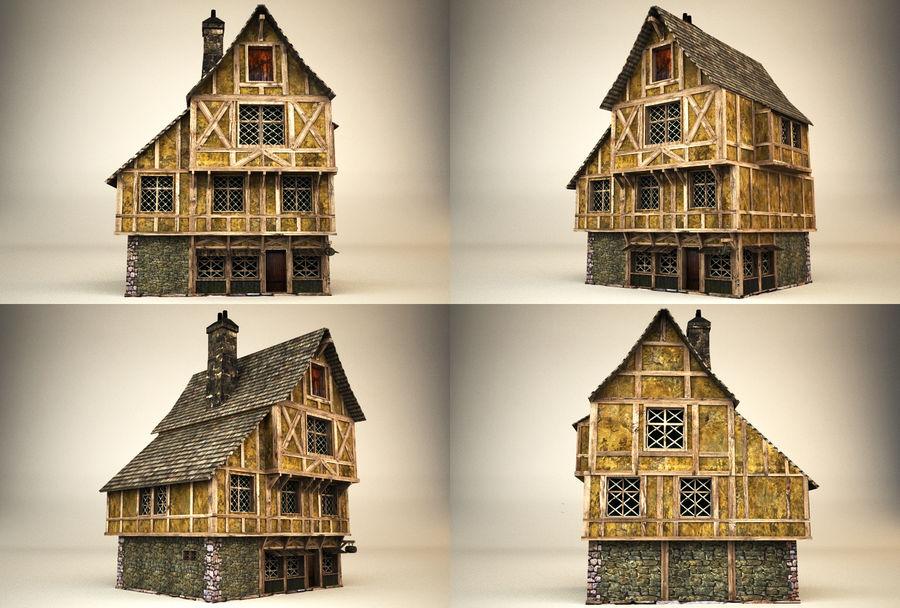 Średniowieczny dom 3 royalty-free 3d model - Preview no. 5