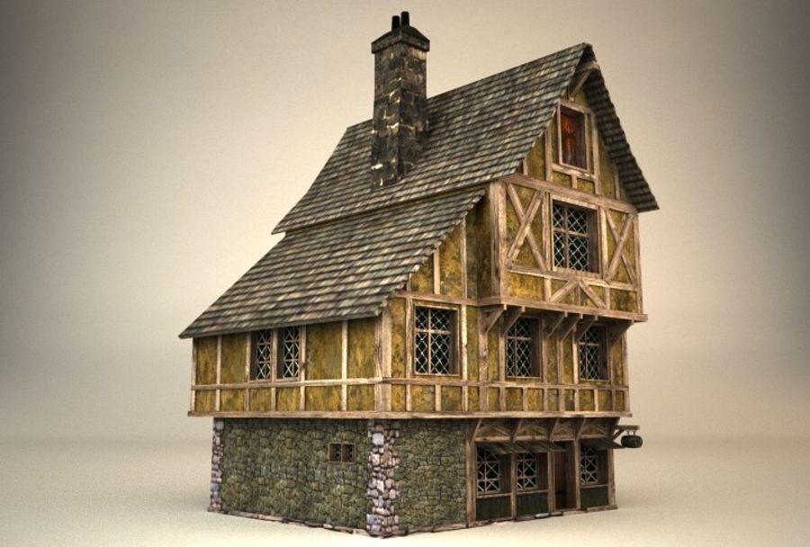 Średniowieczny dom 3 royalty-free 3d model - Preview no. 3