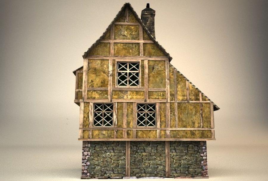 Średniowieczny dom 3 royalty-free 3d model - Preview no. 4