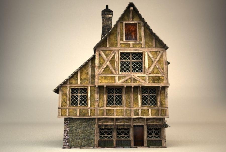Średniowieczny dom 3 royalty-free 3d model - Preview no. 1