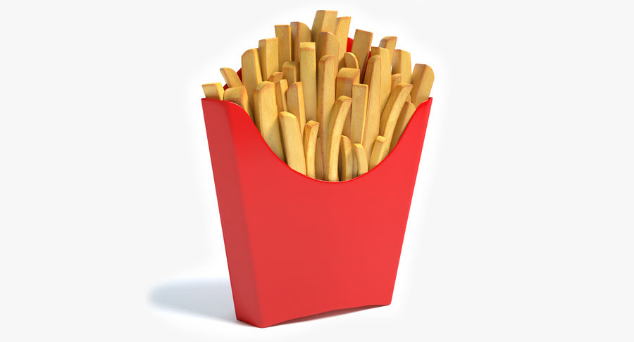 Pommes frites royalty-free 3d model - Preview no. 2