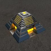 Bâtiment de science-fiction Altar2 3d model