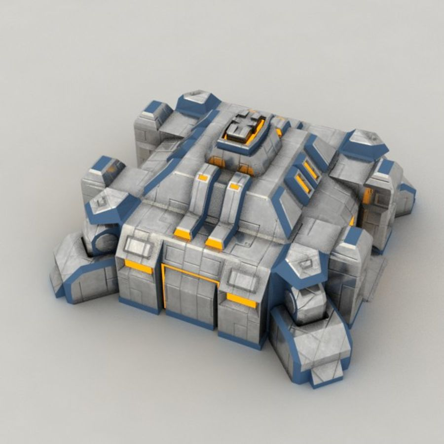 Command center v.3 sci-fi building royalty-free 3d model - Preview no. 5