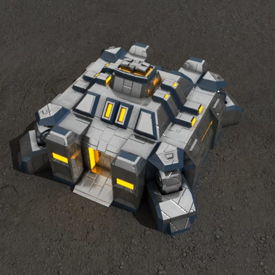 Command center v.3 sci-fi building royalty-free 3d model - Preview no. 1