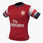 Camiseta de futbol modelo 3d