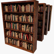 Old Wood Luxurious Bookcase 3d model