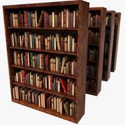 Eski ahşap lüks kitaplık 3d model