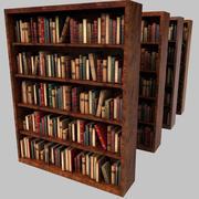 オールドウッドの豪華な本棚 3d model