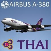 エアバスA-380タイ国際航空 3d model