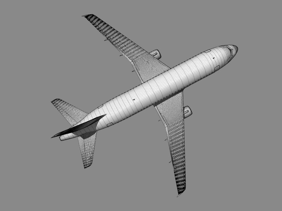 空中客车A-319德国之翼 royalty-free 3d model - Preview no. 11