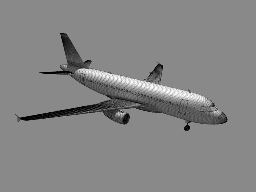 空中客车A-319德国之翼 royalty-free 3d model - Preview no. 8