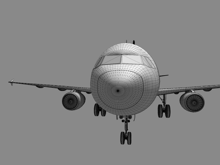 空中客车A-319德国之翼 royalty-free 3d model - Preview no. 14