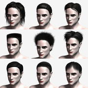 Polygon Hair Collection 3d model