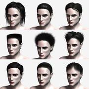 Colección de pelo polígono modelo 3d