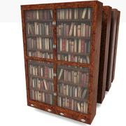 Wood Old Luxurious Bookcase 3d model