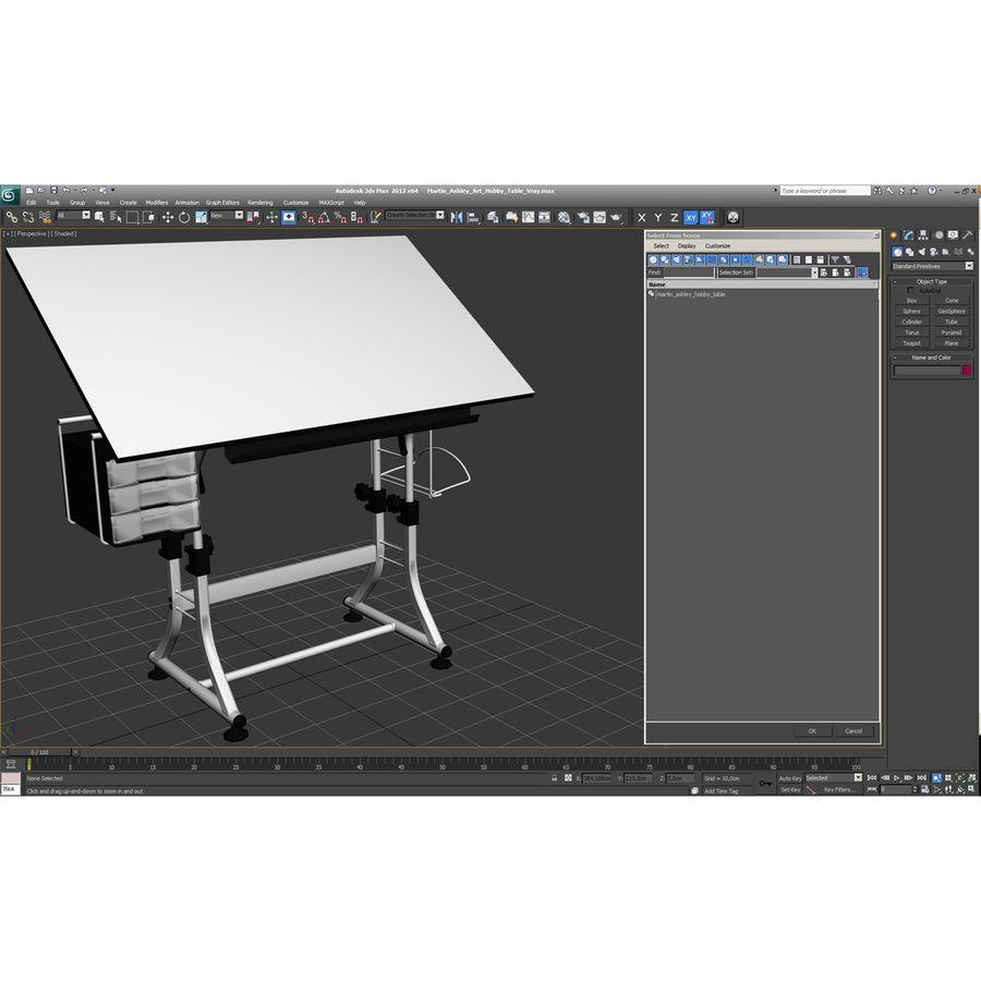Stół Martin Ashley Art Hobby royalty-free 3d model - Preview no. 1