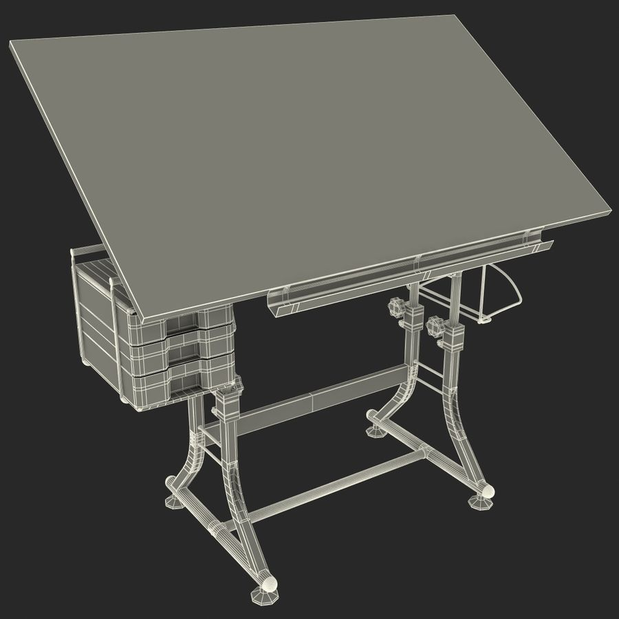 Stół Martin Ashley Art Hobby royalty-free 3d model - Preview no. 17