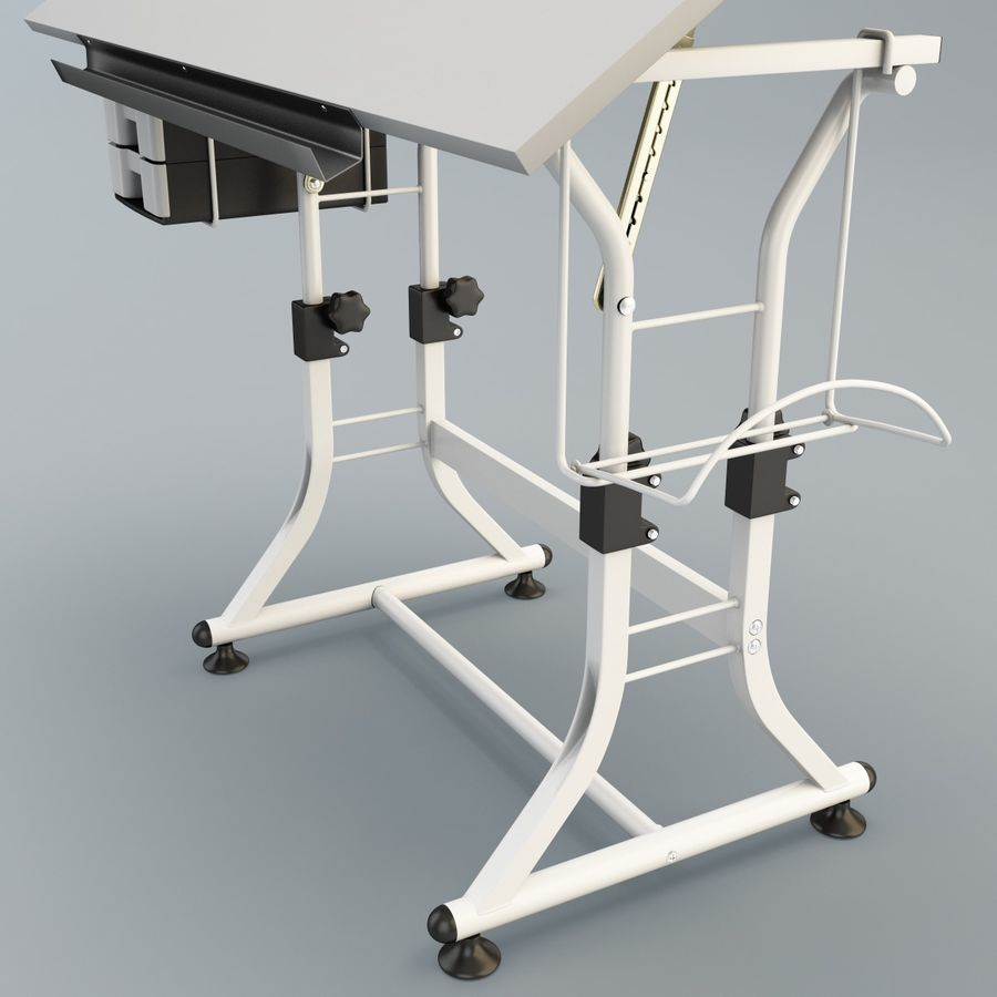 Stół Martin Ashley Art Hobby royalty-free 3d model - Preview no. 9