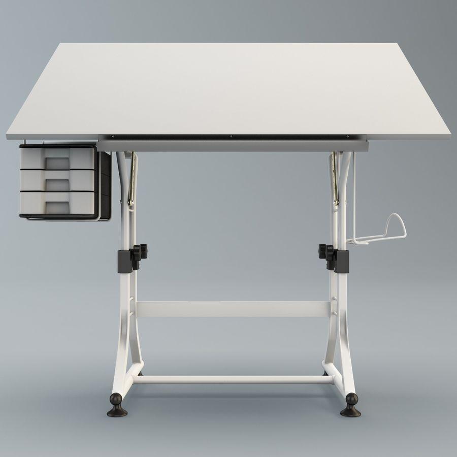 Stół Martin Ashley Art Hobby royalty-free 3d model - Preview no. 8