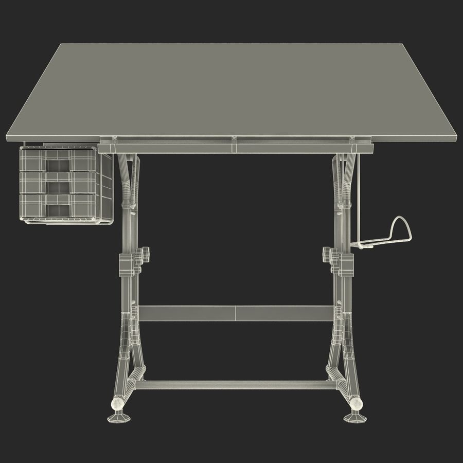 Stół Martin Ashley Art Hobby royalty-free 3d model - Preview no. 21