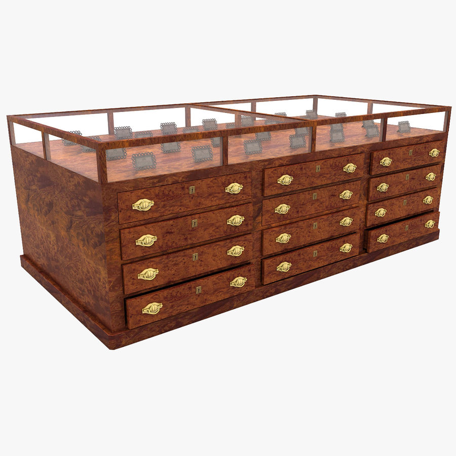 Luxurious Jewelry Shop Display Case royalty-free 3d model - Preview no. 15
